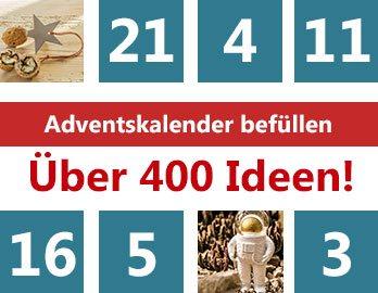 Adventskalender befüllen - über 400 Adventskalendergeschenke
