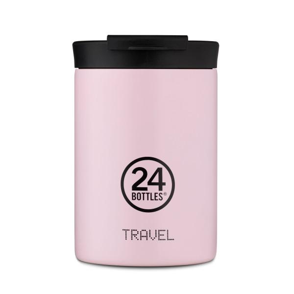 24Bottles Travel Tumbler Thermobecher 0,35 l candy pink. Design Coffee to go Becher. Isolierbecher, Edelstahlbecher.