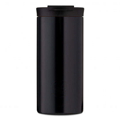 24Bottles Travel Tumbler Thermobecher 0,6 l schwarz. Design Coffee to go Becher. Isolierbecher, Edelstahlbecher tuxedo black.