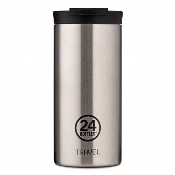 24Bottles Travel Tumbler Thermobecher 0,6 l Edeltahl. Design Coffee to go Becher. Isolierbecher, Edelstahlbecher steel.
