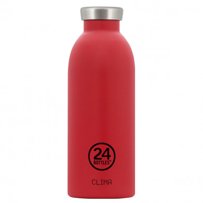 Rote 24 Bottles Thermosflasche 0,5L CLIMA aus Edelstahl, hot red