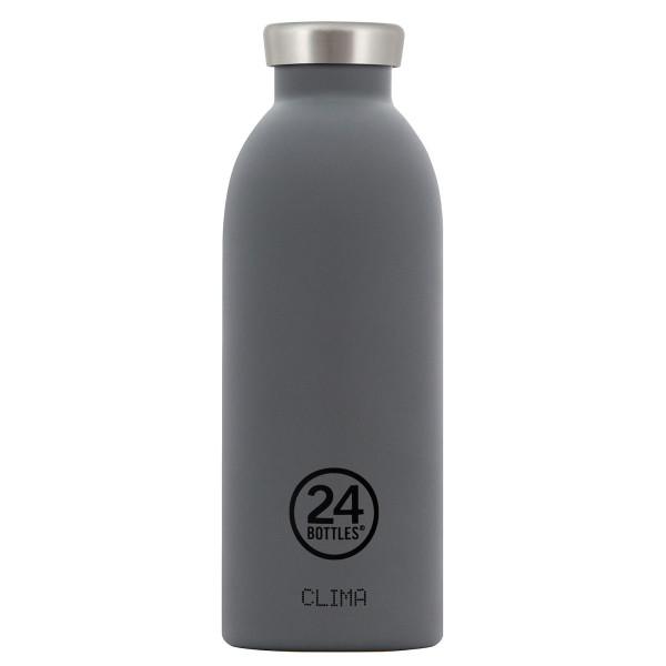 Thermosflasche / Isolierflasche CLIMA von 24Bottles - grau - Edelstahl