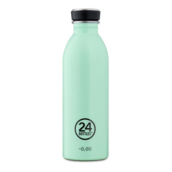 Trinkflasche 0,5 l URBAN aus Edelstahl, aqua green