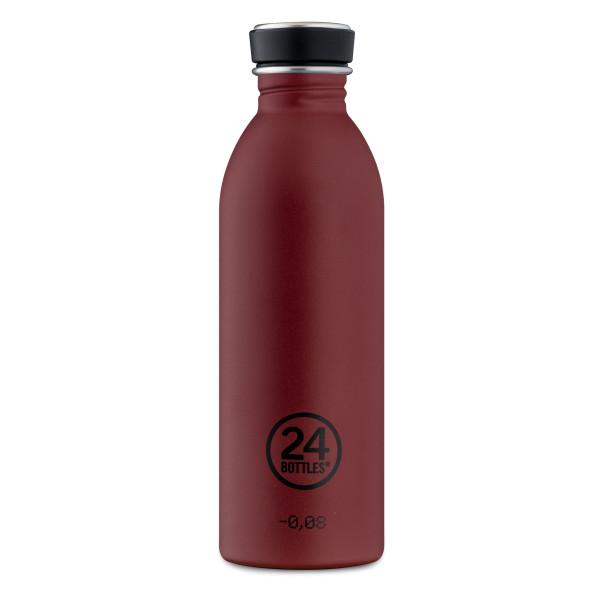Trinkflasche Edelstahl M5 country stone red. 24Bottles Design Edelstahlflaschen - BPA-frei, auslaufsicher, 0,5 Liter Volumen, ...