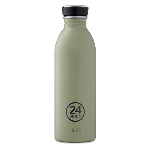 Trinkflasche 0,5 l URBAN aus Edelstahl, stone sage green