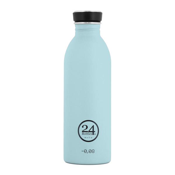 Trinkflasche 0,5 Liter hellblau aus Edelstahl von 24Bottles.