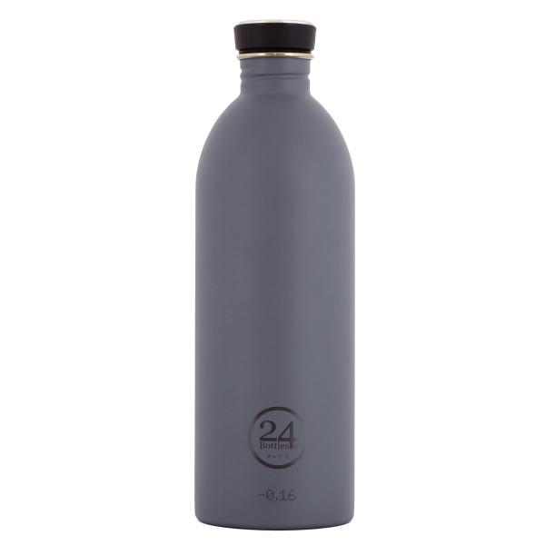 Trinkflasche 1 Liter aus Edelstahl in grau von 24Bottles.