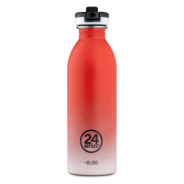 Trinkflasche ATHLEISURE mit Sporttrinkverschluss 0,5 l Edelstahl, coral pulse