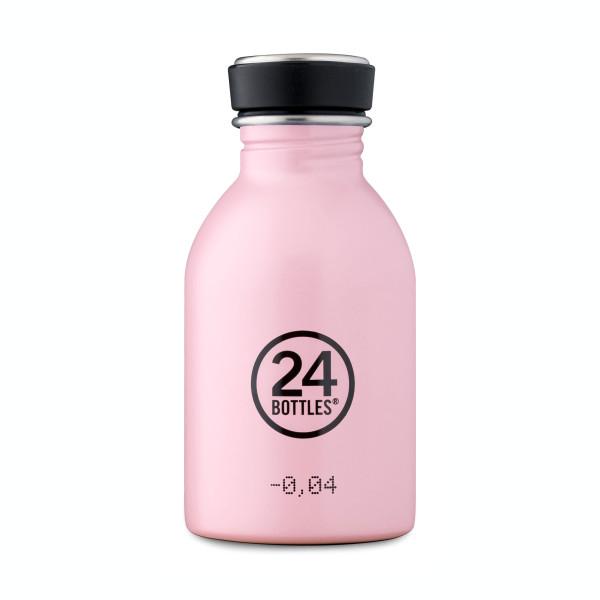 Kleine, rosa Edelstahltrinkflasche mit 250 ml Füllvolumen. Modell: Trinkflasche URBAN candy pink 0,25 Liter. Auslaufsicher, robust, BPA-frei ...