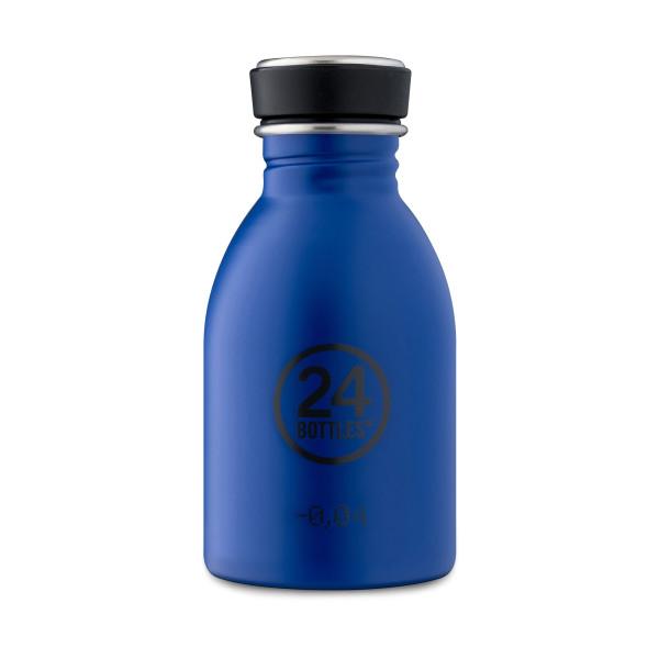 24Bottles Trinkflasche URBAN 0,25 l Edelstahl dunkelblau. Kleine Trinkflasche für Kinder und Erwachsene. Edelstahl-Trinkflasche gold blue.