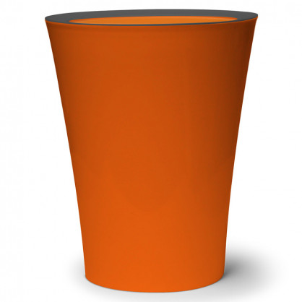qualy design m lleimer flip bin orange. Black Bedroom Furniture Sets. Home Design Ideas