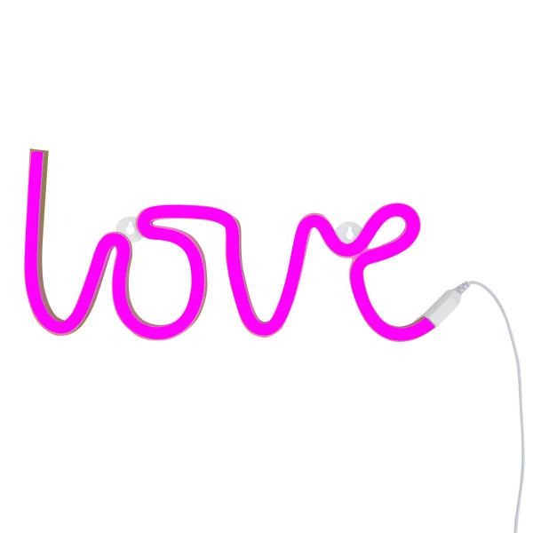 Neonlicht LOVE, pink (LED) - von A Little Lovely Company