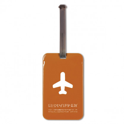 Kofferanhänger Happy Flight Square Luggage Tag terracotta