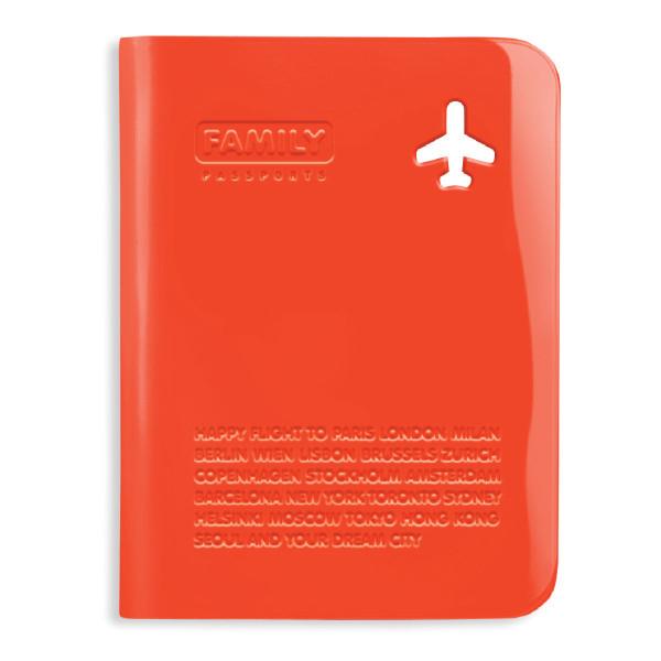 Passhülle Family von Alife Design in orange.