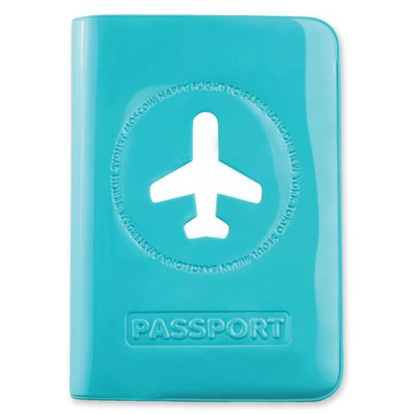 Passhülle Happy Flight blau