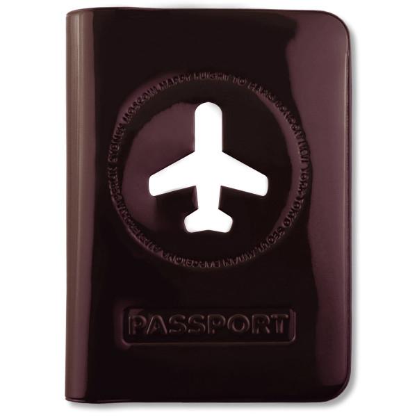 Passhülle Happy Flight braun/schwarz