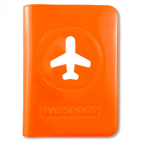 Passhülle Happy Flight orange