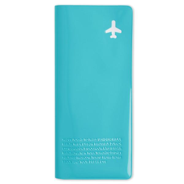 Reisehülle für Dokumente, Pass... Travel Organizer Happy Flight, hellblau