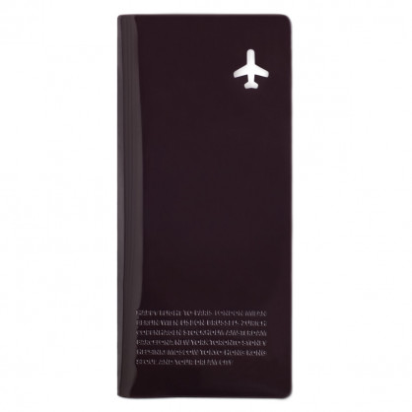 Reisehülle für Dokumente, Pass... Travel Organizer Happy Flight, schwarzbraun