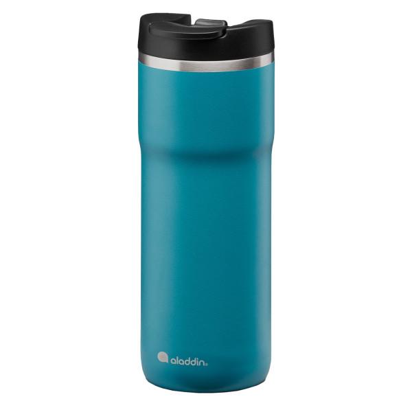 Auslaufsicherer Thermobecher Edelstahl petrol blau - Isolierbecher Thermavac™ Leak Lock - Volumen 0,5 Liter ( 0,47 l ) - aladdin design