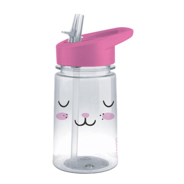 Trinkflasche Bunny (Hase) ZOO KIDS von aladdin Design. Kindertrinkflasche mit Flip Sip Trinkdeckel (klappbarer Trinkschnabel).
