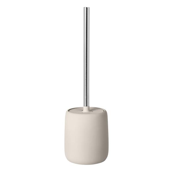 Toilettenbürste SONO, Keramik beige, Metallgriff, Blomus Design, WC-Bürste