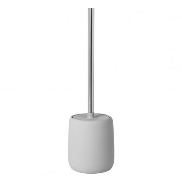 Toilettenbürste SONO, Keramik hellgrau, Metallgriff, Blomus Design, WC-Bürste