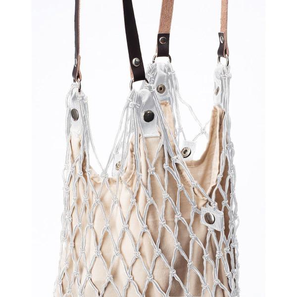 Einkaufsnetz Kulturbeutel de Luxe weiß/beige