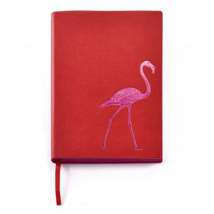Notizbuch Flamingo Design DIN A5 - Notizheft Affe - CEDON - rot und pink