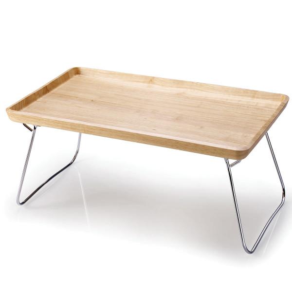 continenta betttablett serviertablett gummibaumholz natur. Black Bedroom Furniture Sets. Home Design Ideas