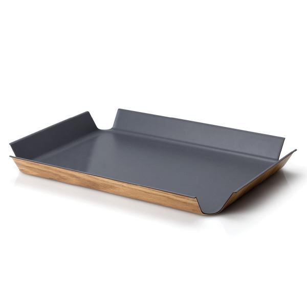 Tablett mit grauer, rutschfester Oberfläche von Continenta.