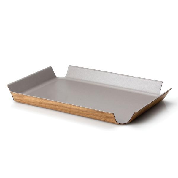 Tablett rutschfest in silber metallic (taupe) von Continenta.