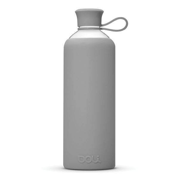 DOLI Design Trinkflasche aus Glas - grau