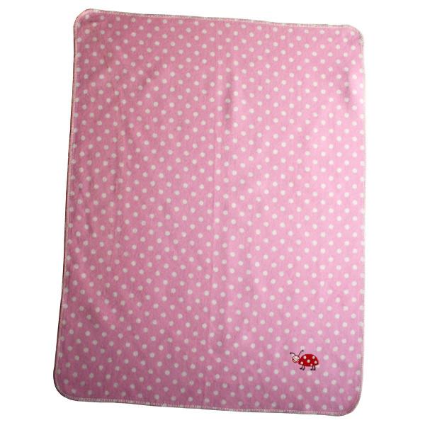 Babydecke Juwel Marienkäfer rosa 70x90 cm
