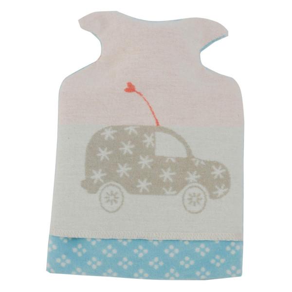 Kinder / Baby Wärmflasche Auto 0,8l hellblau