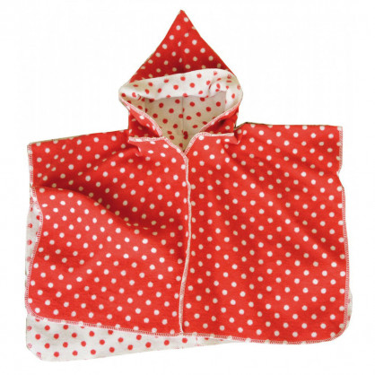 Kinderponcho Cape rot-weiss, 2-4 Jahre
