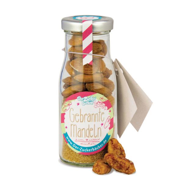 Gebrannte Mandeln im Glasfläschchen zum selber machen DIY - Der Zuckerbäcker.