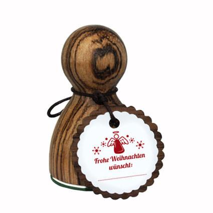 Verziert deine Briefe, Weihnachtsgeschenke und vieles mehr! Der große XL Holzstempel Frohe Weihnachten wünscht .... Modell Stempelino Maxistempel XL.