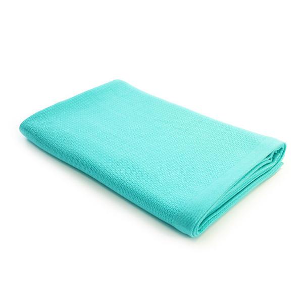 EKOBO Badetuch Organic Cotton 140 x 70 cm in der Farbe lagoon blau. Das Handtuch aus Bio-Baumwolle ist schnell trocknend und extrem saugstark.