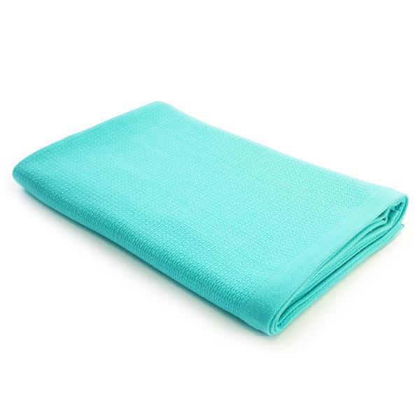 Badetuch Organic Cotton 150 x 100 cm in der Farbe lagoon blau. Das Handtuch aus Bio-Baumwolle ist schnell trocknend und extram saugstark. Das ideale Sauna-, Bad- und Strandtuch.