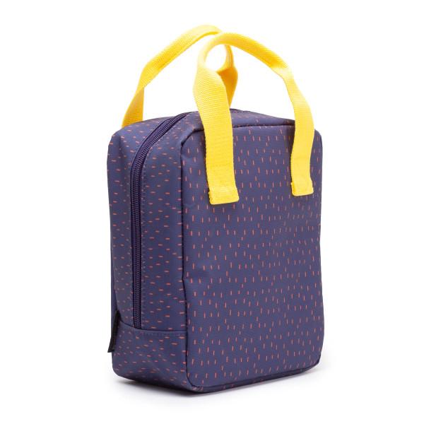 Lunchbag blau Isothermic Go von EKOBO Design. Kühltasche mit Reißverschluss und Tragegriffen in gelb.