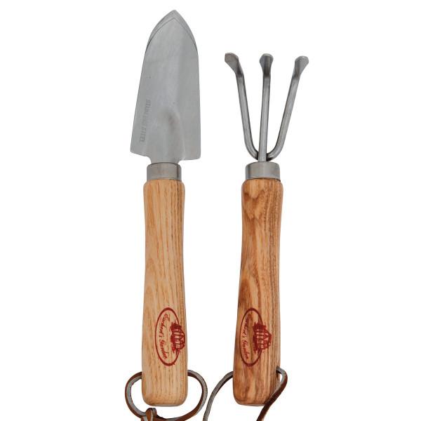 Gartenwerkzeug Set Mini - Schaufel und Harke - Edelstahl - Esschert Design.