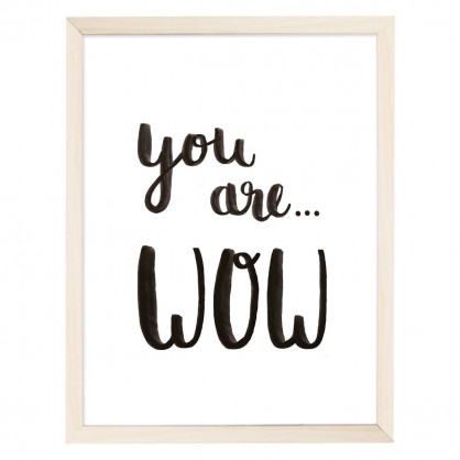 Eulenschnitt Artprint Poster mit Text - YOU ARE WOW.