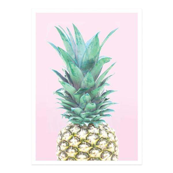 Postkarte Ananas