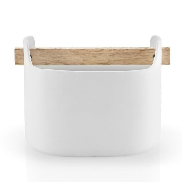 Aufbewahrungsbehälter aus weißer Keramik - Toolbox 15 cm von Eva Solo.