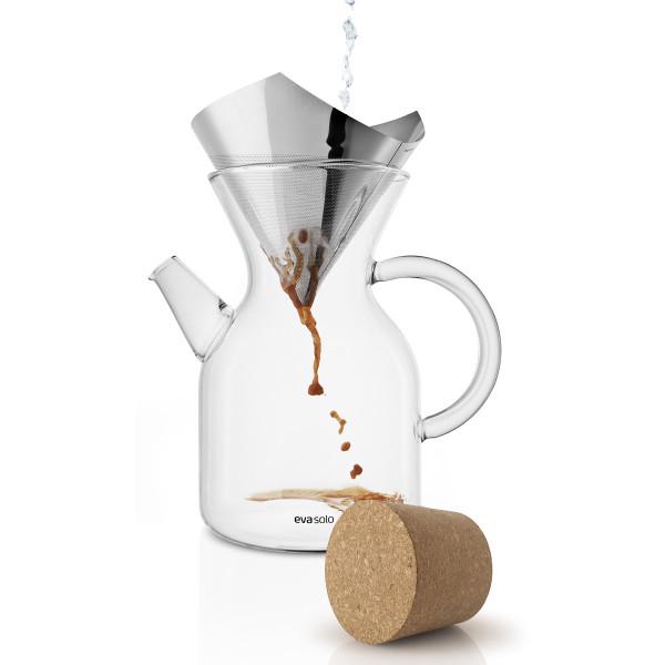 Eva Solo Kaffeekanne 1L mit Filter und Korkverschluss POUR-OVER