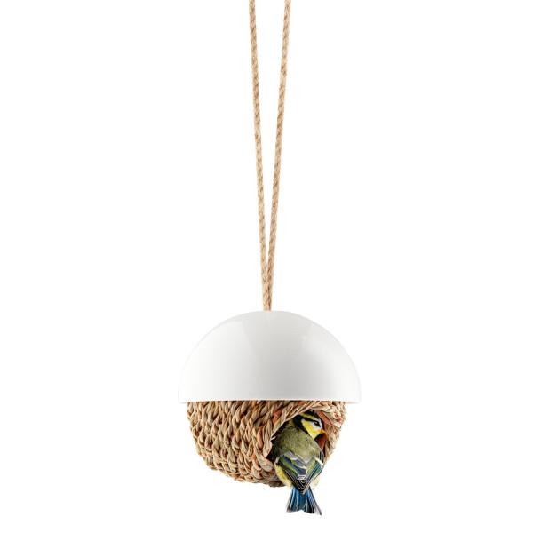 Vogelhaus Kugel / Nistplatz Shelter - Keramik weiß von Eva Solo Design. Vogel Schutzhaus.