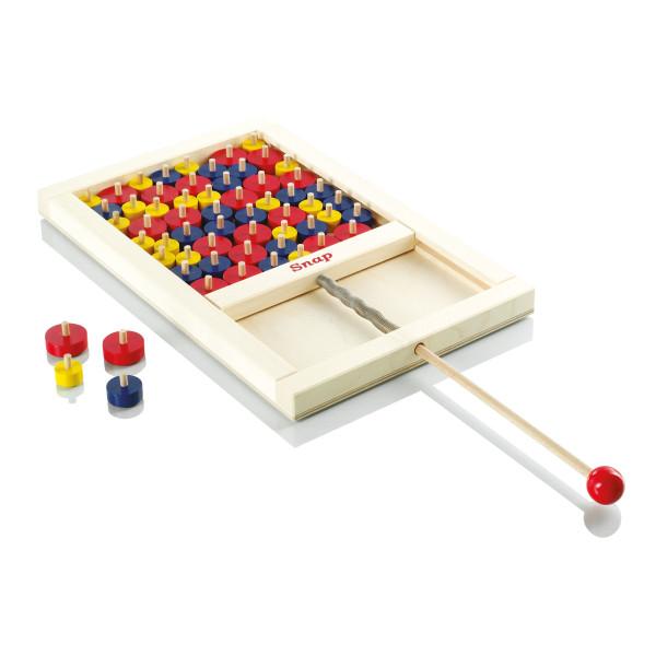 SNAP Scheiben Mikado: das hochwertige Spiel aus Holz für Klein und Groß. Familien-Geschicklichkeitsspiel von FAIRWERK.