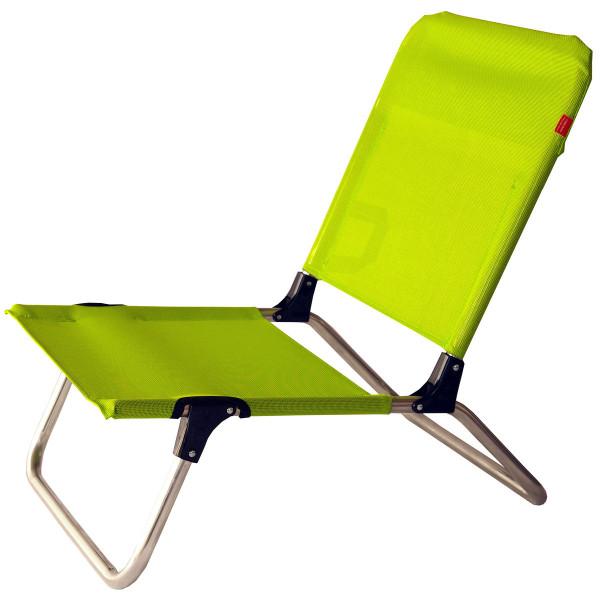 Strandstuhl Quick in pistazie (limegrün) von FIAM - ideal fürs Camping, Baden oder den Urlaub