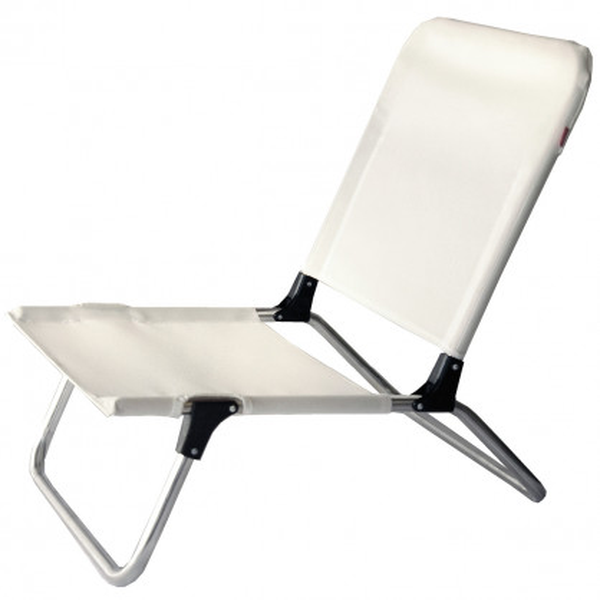 Kleiner Strandstuhl QUICK in weiß von FIAM - Der kleine Stuhl fürs Camping, Baden oder den Strandurlaub.